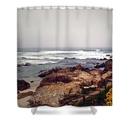 Asilomar Beach Pacific Grove CA USA Shower Curtain by Joyce Dickens