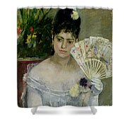 At The Ball Shower Curtain by Berthe Morisot