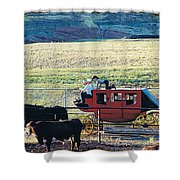 At The Cody Rodeo Shower Curtain by Jan Amiss Photography