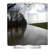 At The Levee Shower Curtain by DArcy  Evans