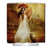 Athena Shower Curtain by Mary Hood
