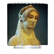Athenian Kore Shower Curtain by Andonis Katanos