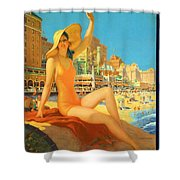 Atlantic City  Shower Curtain by Nomad Art And  Design