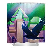 Atlantis Shower Curtain by Brian  Commerford