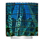 Atrium Gm Building Detroit Shower Curtain by Chris Lord