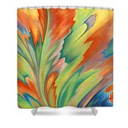 Autumn Flame Shower Curtain by Lucy Arnold
