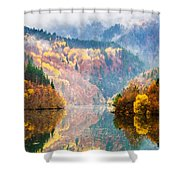 Autumn Lake Shower Curtain by Evgeni Dinev
