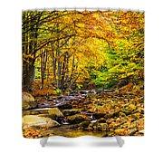 Autumn Landscape Shower Curtain by Evgeni Dinev