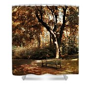 Autumn Repose Shower Curtain by Jessica Jenney