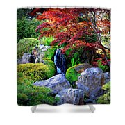 Autumn Waterfall Shower Curtain by Carol Groenen