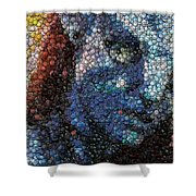 Avatar Neytiri Bottle Cap Mosaic Shower Curtain by Paul Van Scott