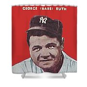 Babe Ruth Shower Curtain by Paul Van Scott