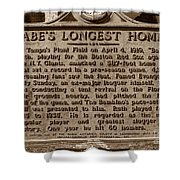Babes Longest Homer Shower Curtain by David Lee Thompson