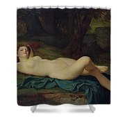 Bacchante Shower Curtain by Pierre Honore Hugrel