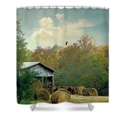 Back At The Barn Again Shower Curtain by Jan Amiss Photography