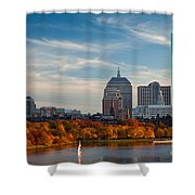 Back Bay Sail Shower Curtain by Susan Cole Kelly