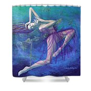 Back in time Shower Curtain by Dorina  Costras