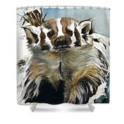 Badger - Guardian Of The South Shower Curtain by J W Baker