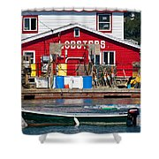 Bailey Island Lobster Pound Shower Curtain by Susan Cole Kelly
