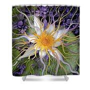 Bali Dream Flower Shower Curtain by Christopher Beikmann