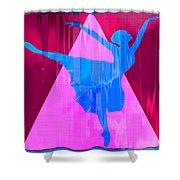 Ballet Dancer Shower Curtain by David G Paul