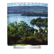 Ballindoon Abbey, Lough Arrow, County Shower Curtain by The Irish Image Collection