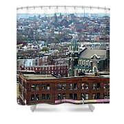 Baltimore Rooftops Shower Curtain by Carol Groenen