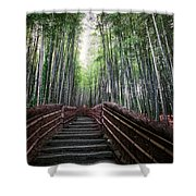 Bamboo Forest Of Japan Shower Curtain by Daniel Hagerman