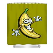 Banana Shower Curtain by Kevin Middleton