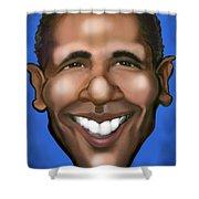 Barack Obama Shower Curtain by Kevin Middleton