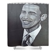 Barack Obama Shower Curtain by Richard Le Page