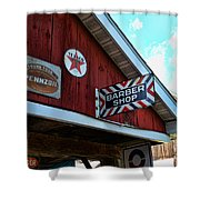 Barber - Old Barber Shop Sign Shower Curtain by Paul Ward