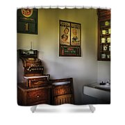 Barber - The Cash Register  Shower Curtain by Mike Savad