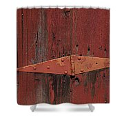 Barn Hinge Shower Curtain by Garry Gay