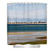 Barnstable Harbor Panorama Shower Curtain by Charles Harden