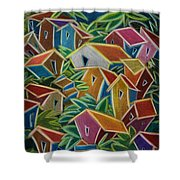 Barrio Lindo Shower Curtain by Oscar Ortiz