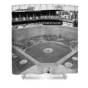 Baseball Game, C1953 Shower Curtain by Granger