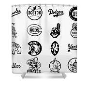 Baseball Logos Shower Curtain by Granger