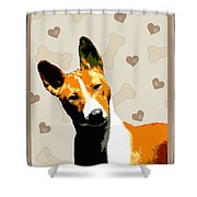 Basenji Shower Curtain by One Rude Dawg Orcutt