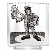 Bass Shower Curtain by Tobey Anderson
