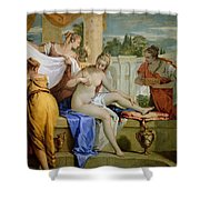 Bathsheba Bathing Shower Curtain by Sebastiano Ricci