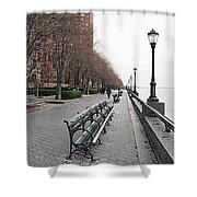 Battery Park Shower Curtain by Michael Peychich