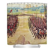 Battle Of Agincourt, 1415 Shower Curtain by Granger
