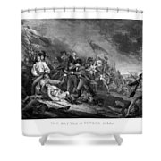 Battle Of Bunker Hill Shower Curtain by War Is Hell Store