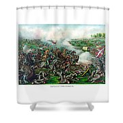 Battle Of Five Forks Shower Curtain by War Is Hell Store