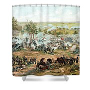 Battle Of Gettysburg Shower Curtain by War Is Hell Store