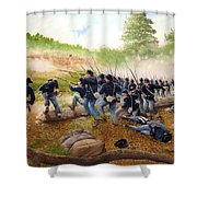 Battle Of Utoy Creek Shower Curtain by Marc Stewart