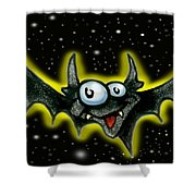 Batty Shower Curtain by Kevin Middleton