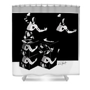 Bauhause Ballet Shower Curtain by Charles Stuart