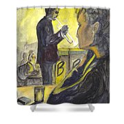 Bb Jazz Shower Curtain by Carol Wisniewski